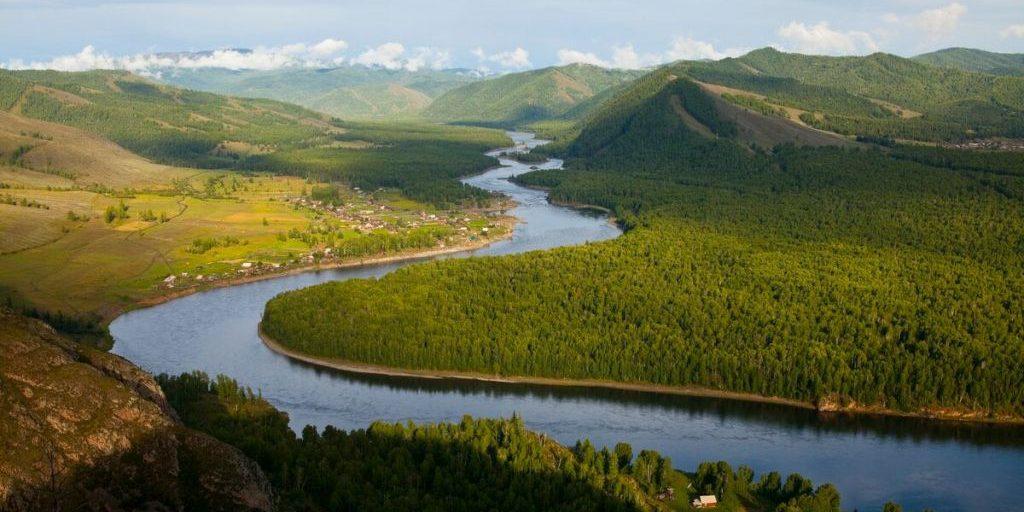 река Енисей Россия